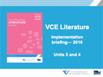 Literature Implementation Briefing