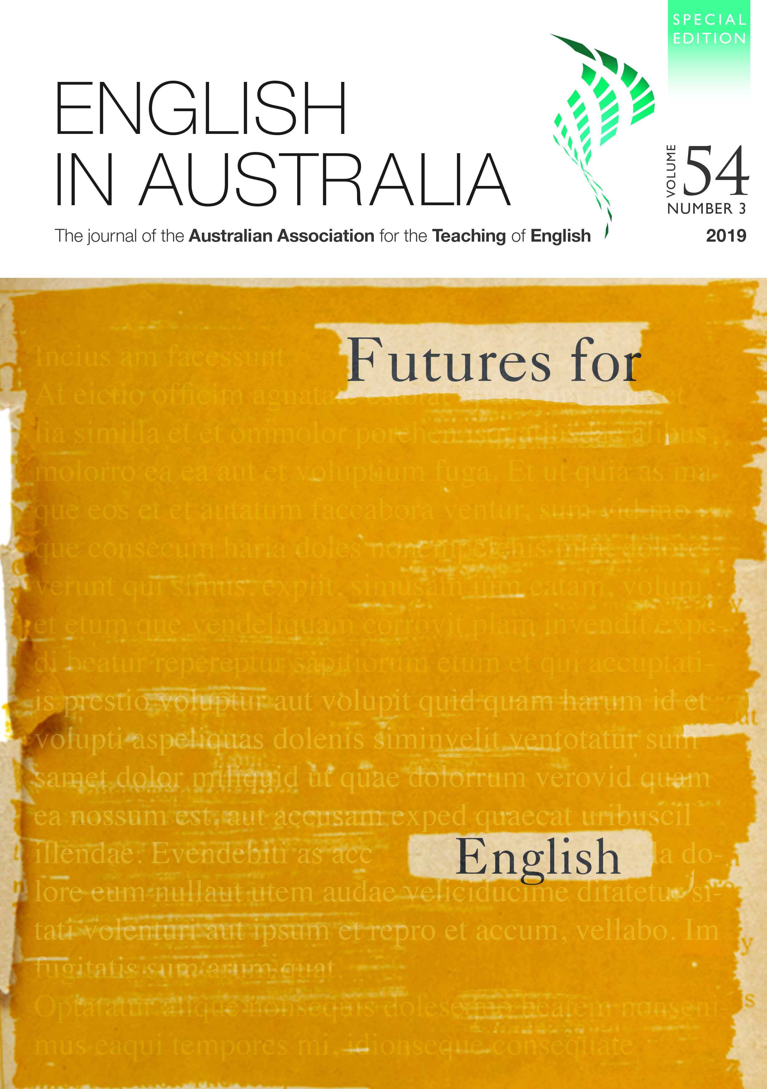 English In Australia Victorian Association For The Teaching Of English