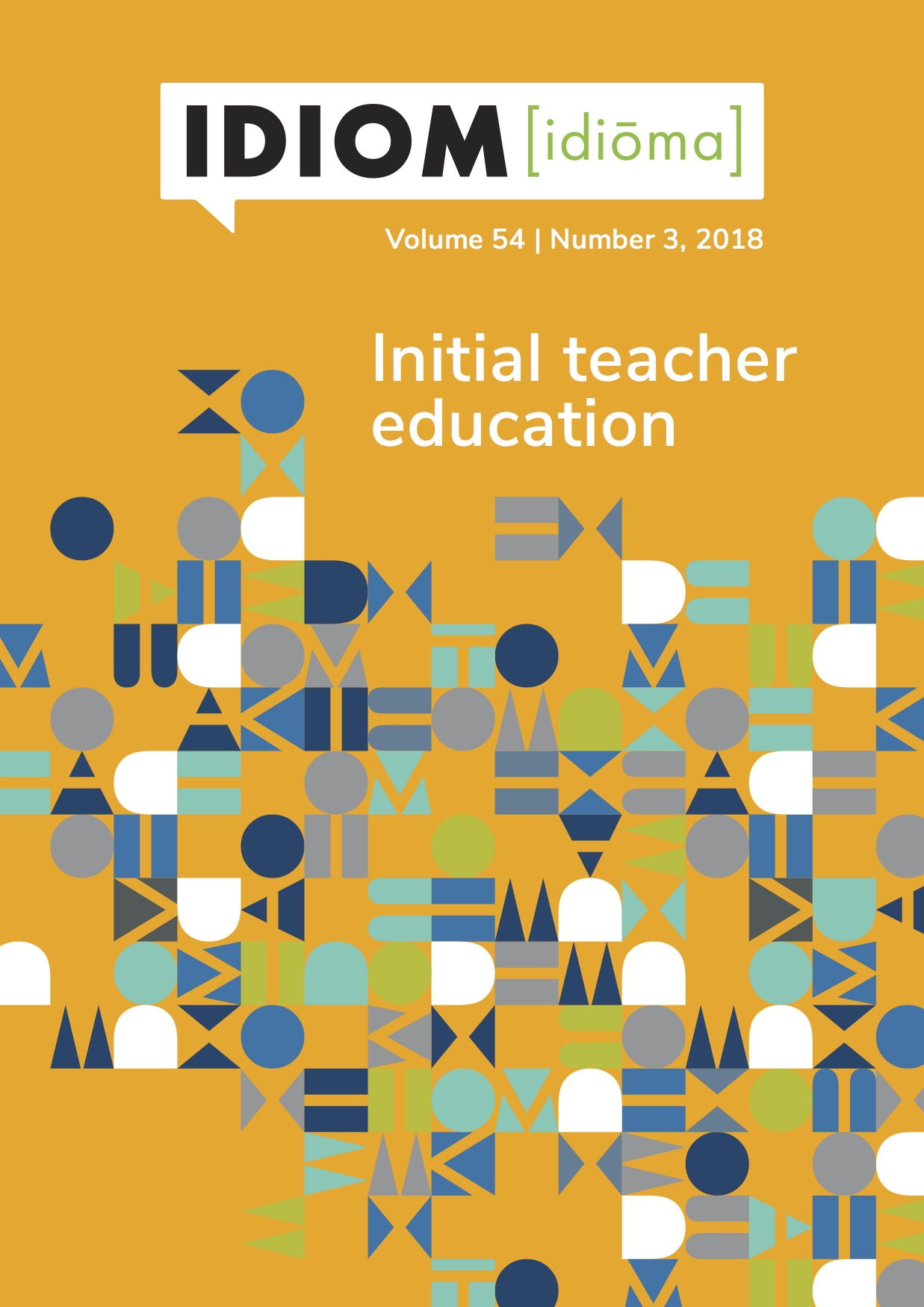 Idiom Volume 54 No 3, 2018 - Initial teacher education