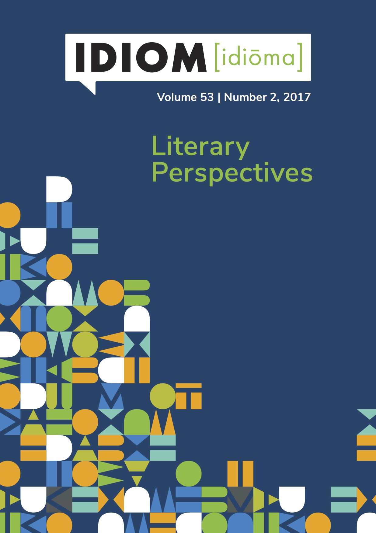 Idiom Volume 53 No 2, 2017 - Literary Perspectives